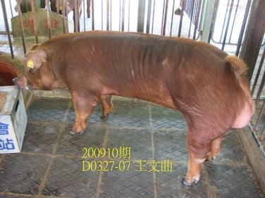 中央畜產會200910期D0327-07拍賣照片